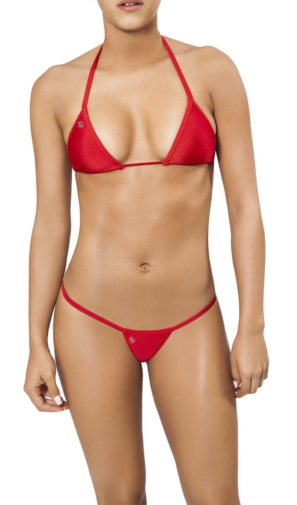 Joe Snyder Women Andros Kini Tanga & Lefkada Top Red-OS