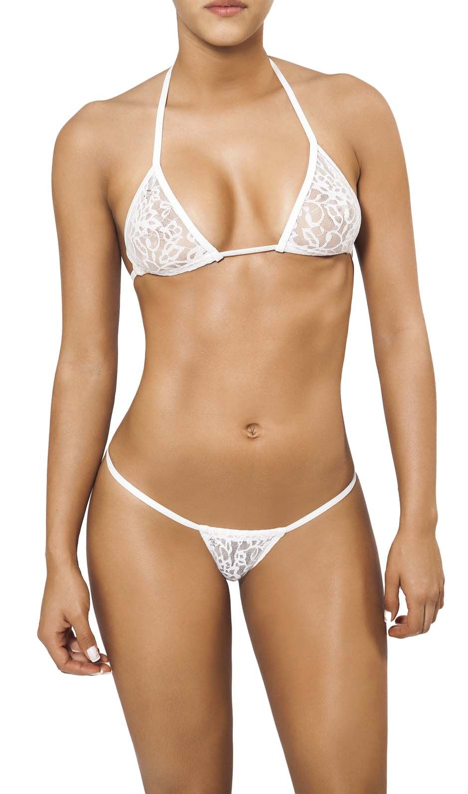 Joe Snyder Women Andros Kini Tanga & Lefkada Top White Lace-OS