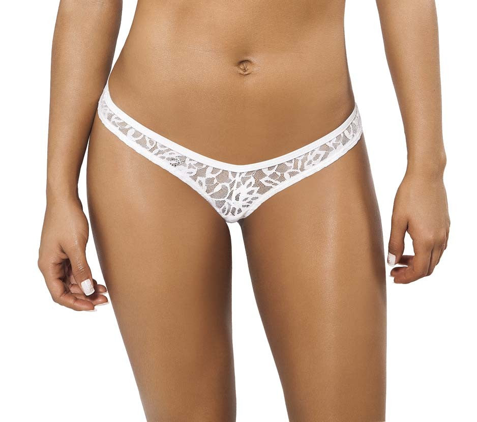 Joe Snyder Women Rhodes Tanga White Lace-OS