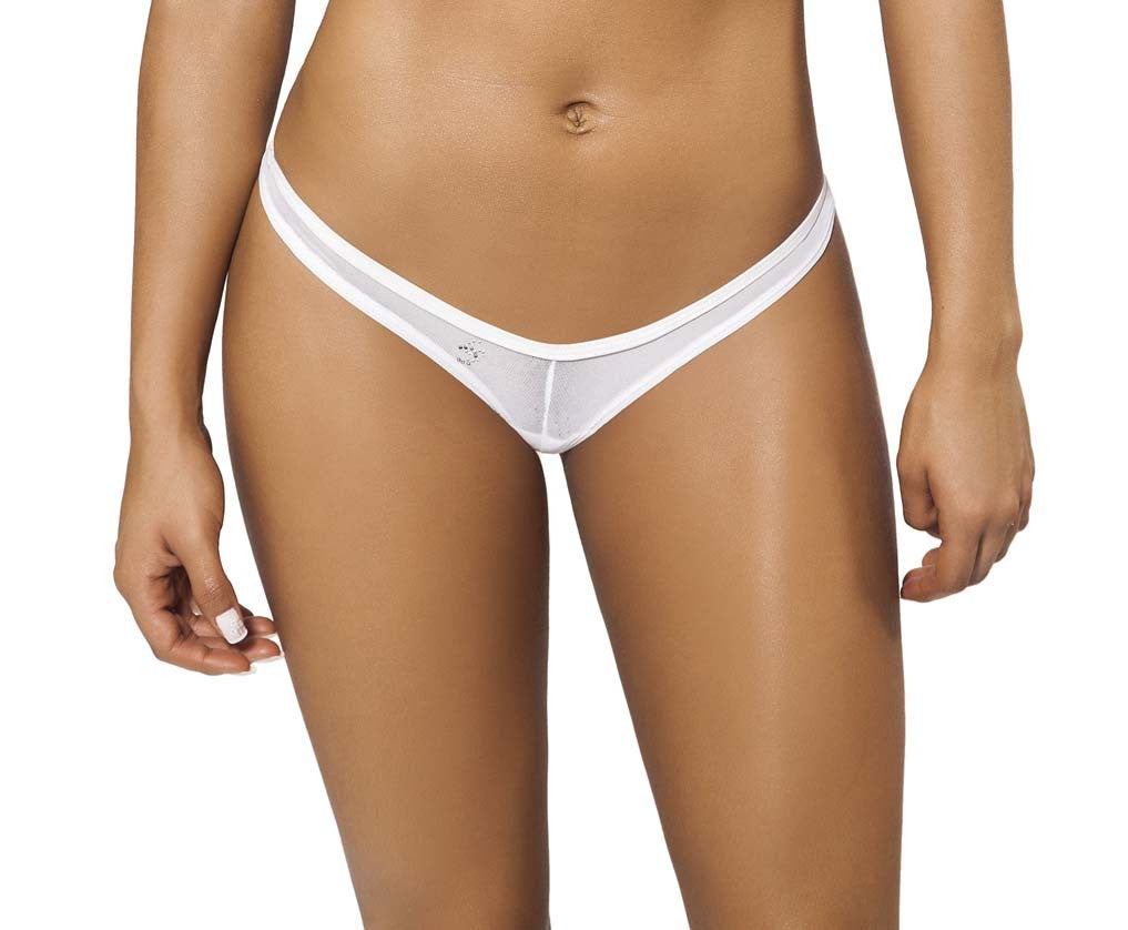 Joe Snyder Women Rhodes Tanga White Mesh-OS