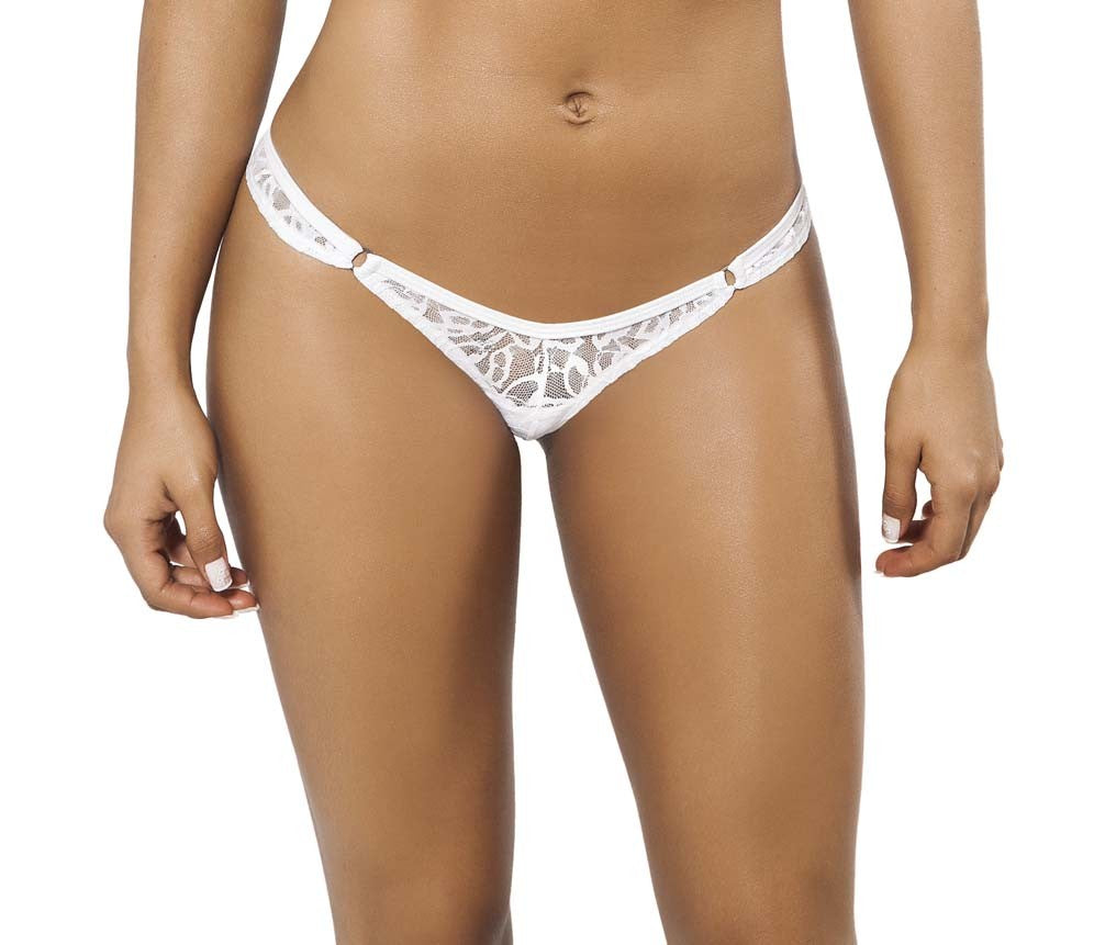 Joe Snyder Women Crete Tanga White Lace-OS