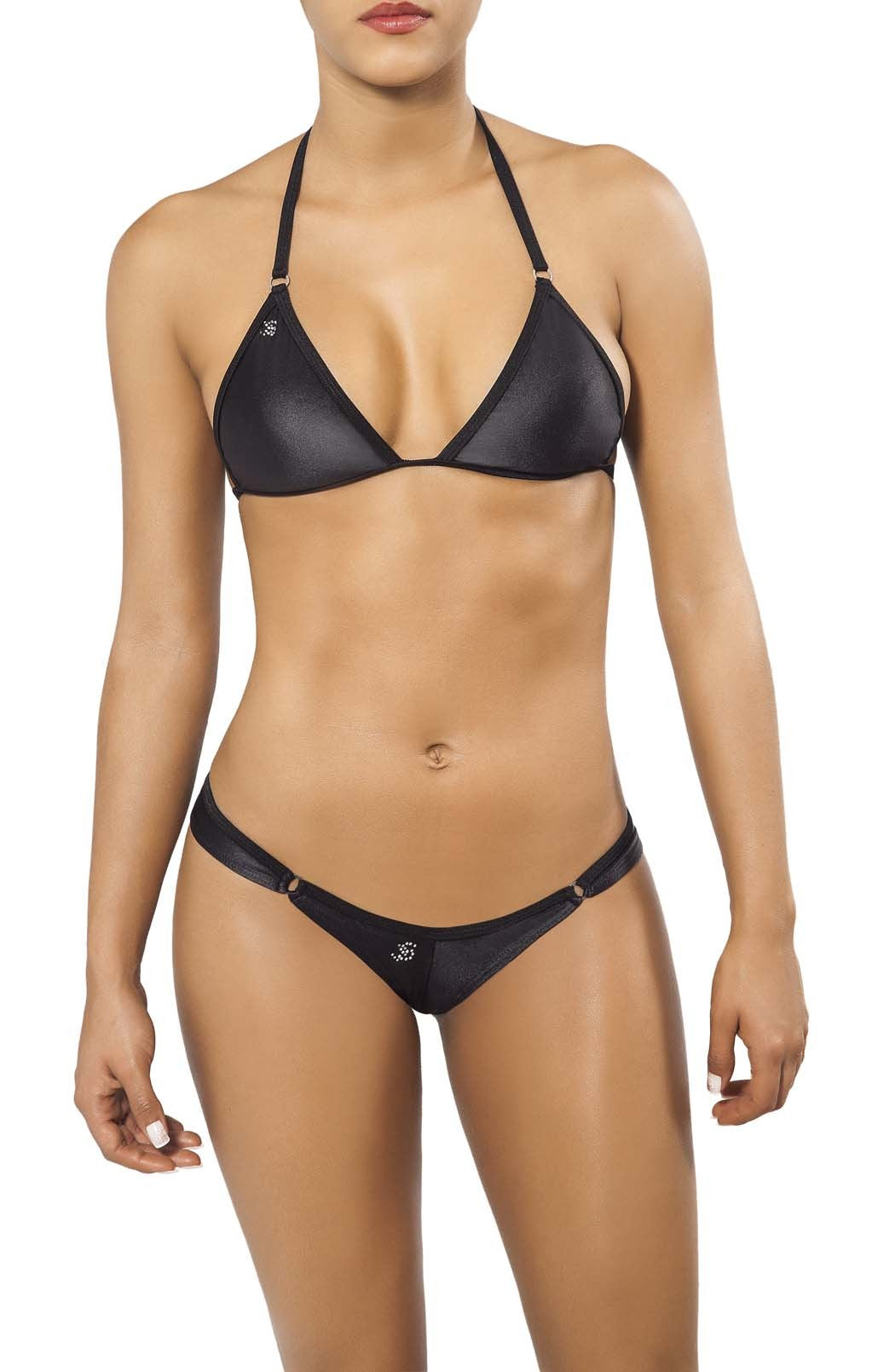Joe Snyder Women Crete Tanga & Corfu Top Black-OS