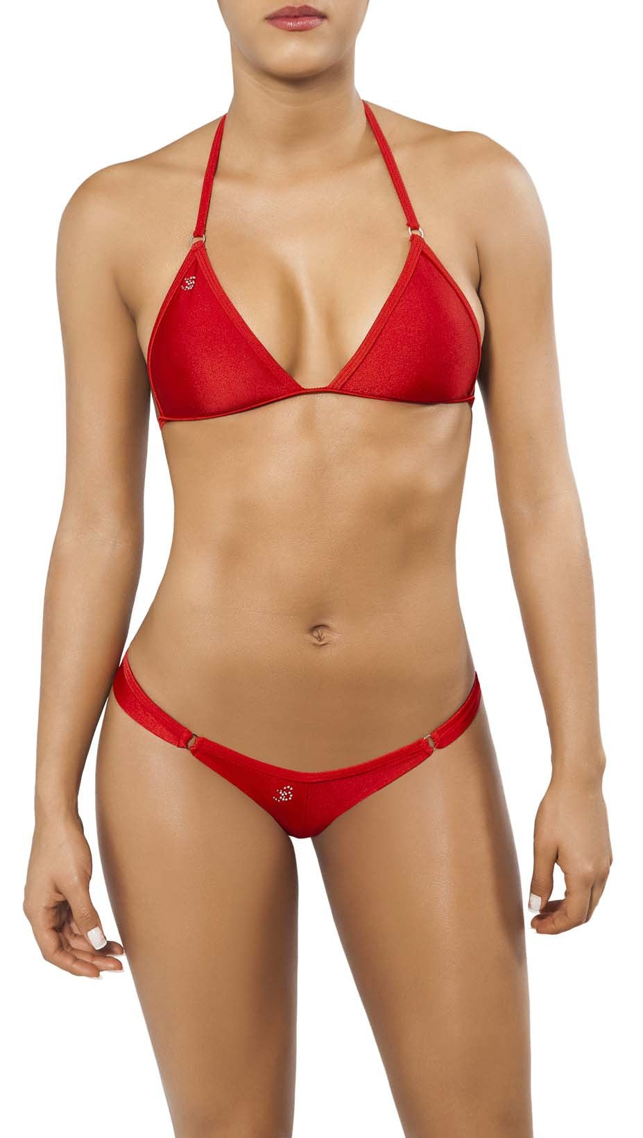 Joe Snyder Women Crete Tanga & Corfu Top Red-OS