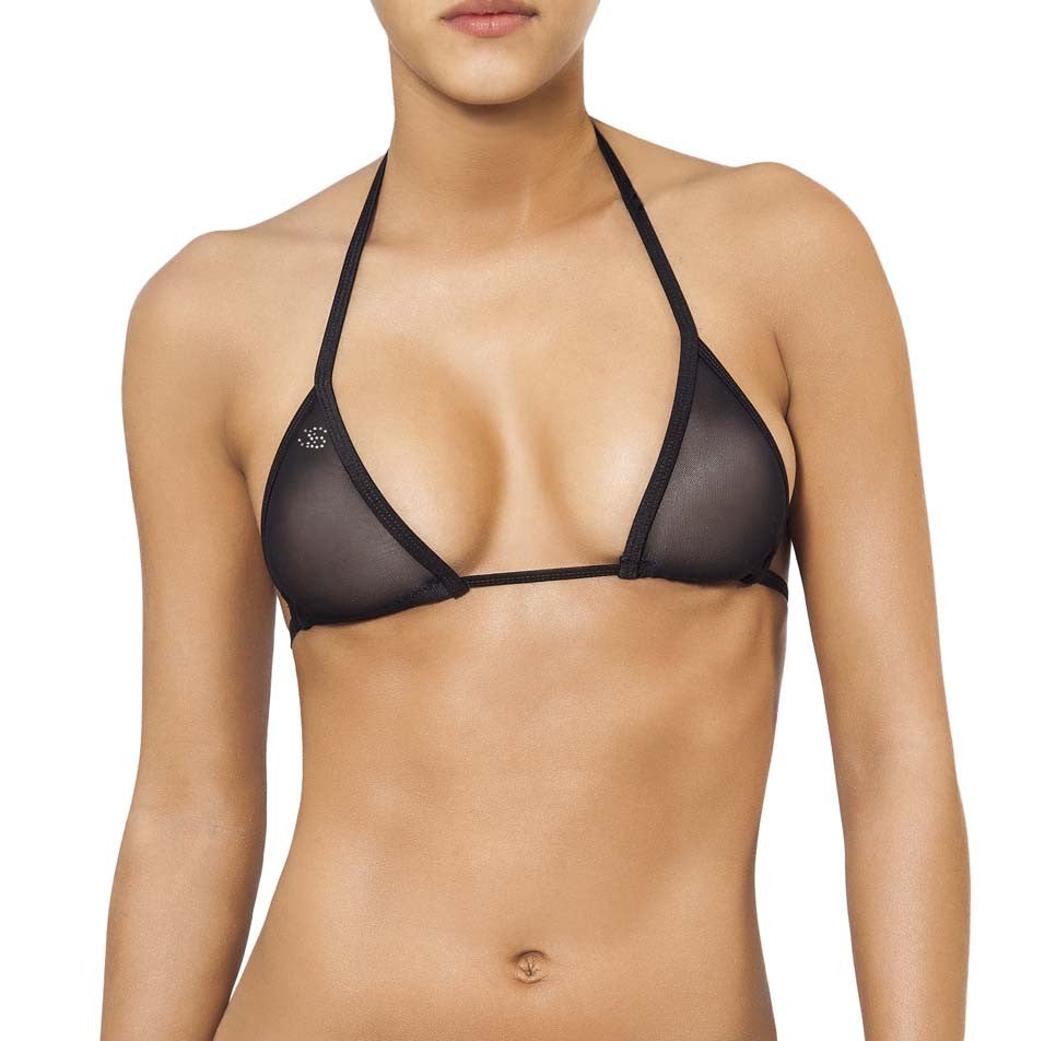 Joe Snyder Women Lefkada Top Black Mesh-OS