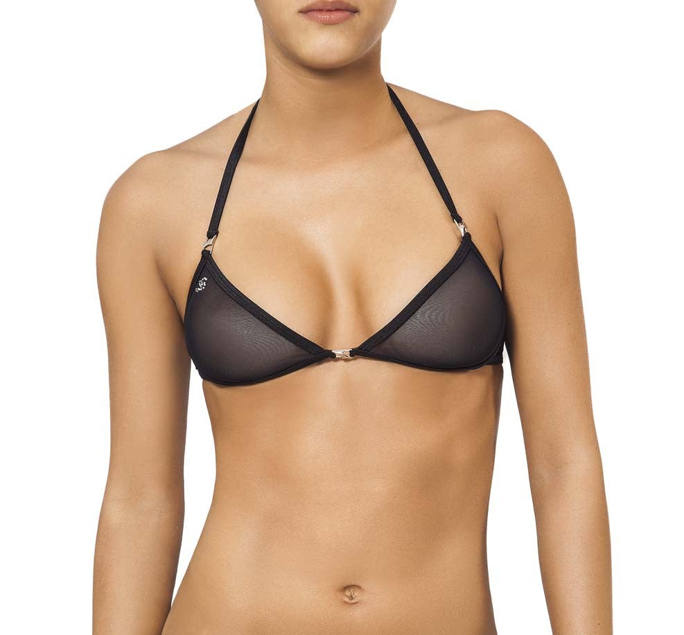 Joe Snyder Women Lemnos Top Black Mesh-OS