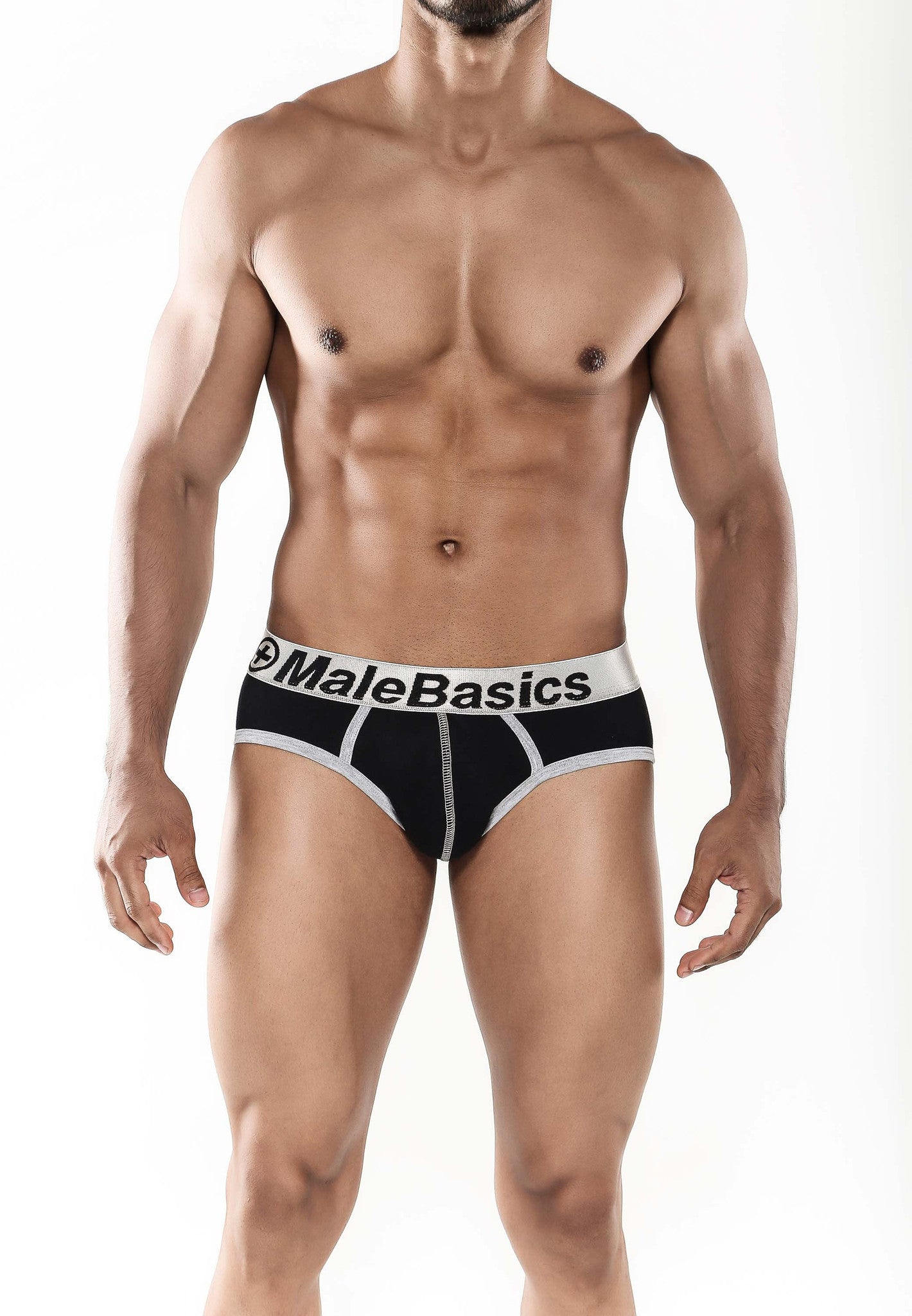 Malebasics Men's Cotton Fitted Contrast Hip Brief - Malebasics Canada - 2