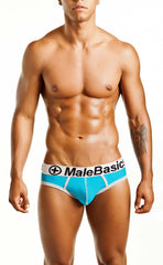 Malebasics Men's Cotton Fitted Contrast Hip Brief - Malebasics Canada - 4