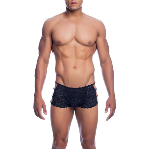 MOB Men's Lace Open Side Boxer Short - Malebasics Canada - 1
