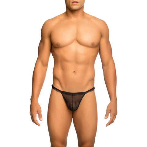 MOB Men's Sexy Ruffled V Thong - Malebasics Canada - 1