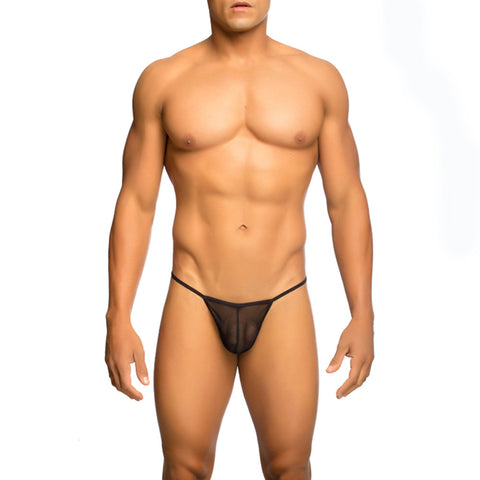MOB Men's Sheer T Back Thong - Malebasics Canada - 1