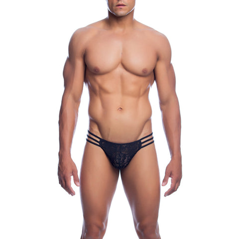 MOB Men's Lace Pouch Thong - Malebasics Canada - 1