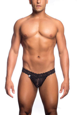 MOB Lace Waist Thong