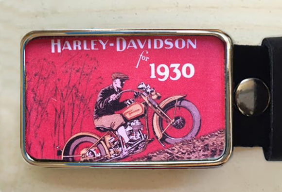 Harley Davidson Motorcyle Belt Buckle - Red Dove Studios - 1