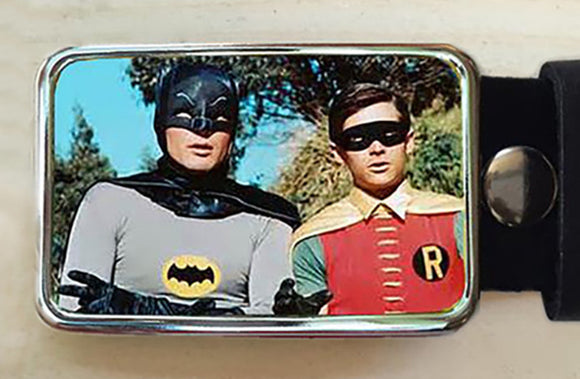 Batman and Robin Belt Buckle - Red Dove Studios - 1