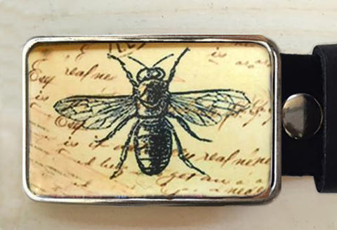 Insect Bee Belt Buckle - Red Dove Studios - 1