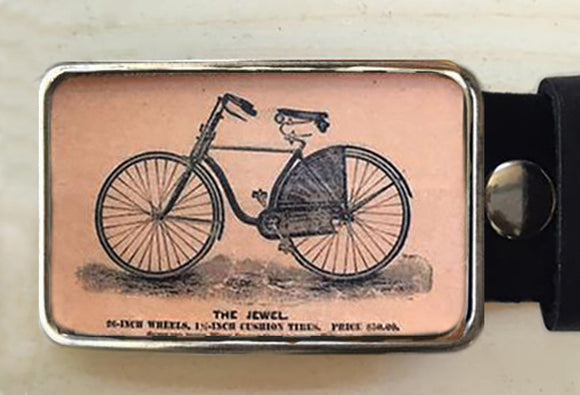 Vintage Bike belt buckle - Red Dove Studios - 1