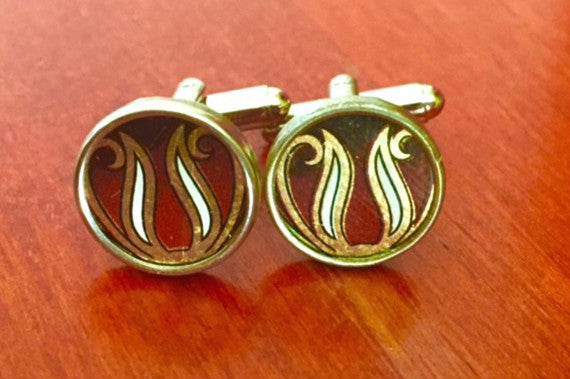 Custom Black and Gold Tin Cufflinks
