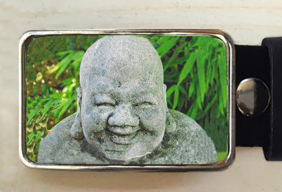 Laughing Buddha Belt Buckle - Red Dove Studios - 1