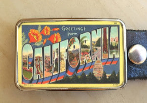 Vintage California Belt Buckle - Red Dove Studios - 1