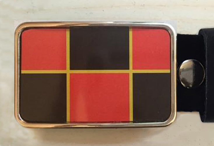 Checkers Board Game Belt Buckle - Red Dove Studios - 1