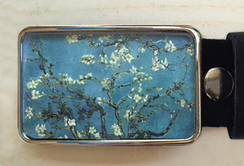 Cherry Blossom Belt Buckle - Red Dove Studios - 1