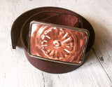 Copper Flower Jello Mold Belt Buckle