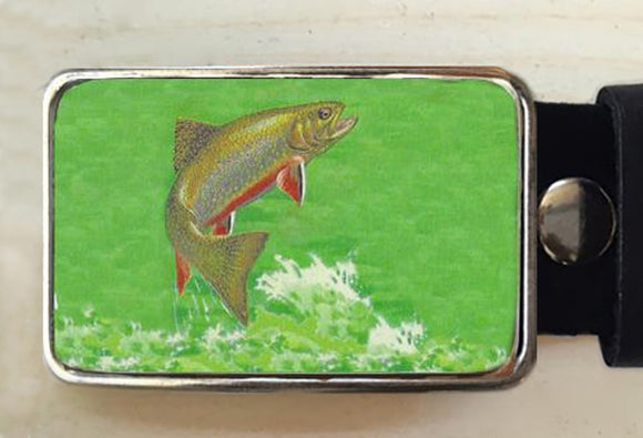Salmon Fish Belt Buckle - Red Dove Studios - 1