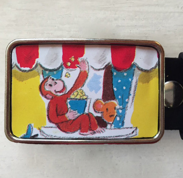Curious George Belt Buckle - Red Dove Studios - 1