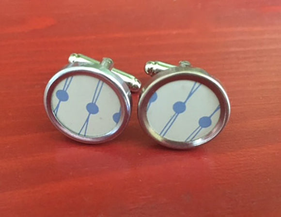 Baby Blue Tin Cufflinks - Red Dove Studios - 1