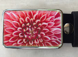 Mums Flower Belt Buckle - Red Dove Studios - 1