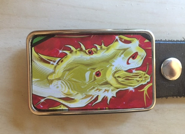 Chinese Dragon Tin Belt Buckle - Red Dove Studios - 1