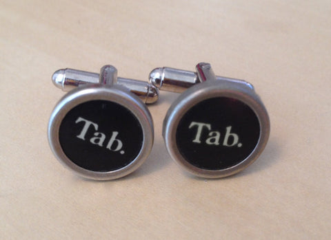 Tab Key Typewriter Cufflinks - No Glue - Red Dove Studios - 1