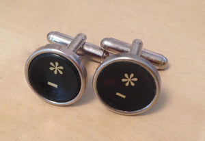 Vintage Asterisks Typewriter Key Cufflinks.  NO GLUE! - Red Dove Studios - 1