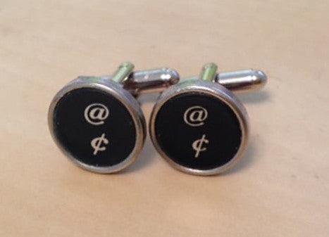 "Vintage At ""@"" Sign Typewriter Key Jewelry Cufflinks. NO GLUE. - Red Dove Studios - 1"