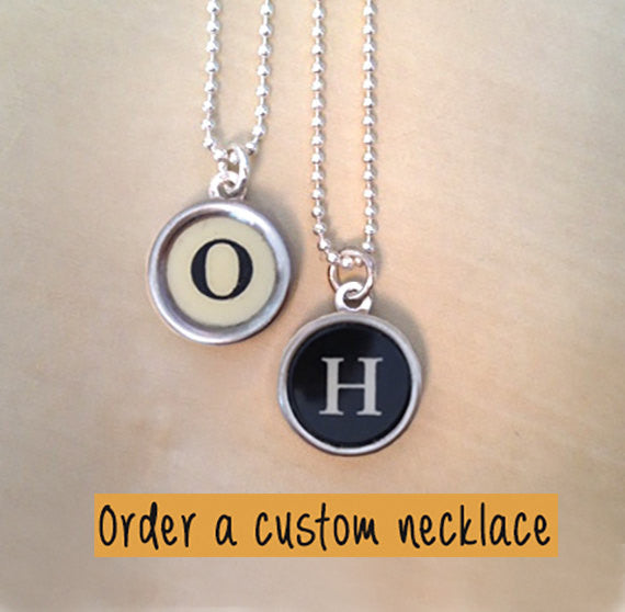 Choose your keys & customize your own Typewriter Key Jewelry Necklace! - Red Dove Studios