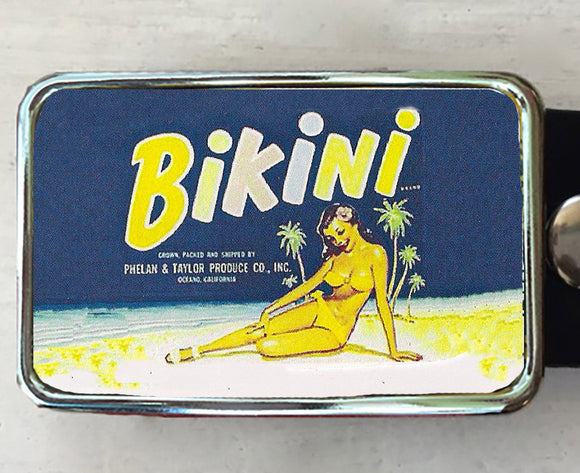 Vintage Retro Bikini Belt Buckle - Red Dove Studios - 1