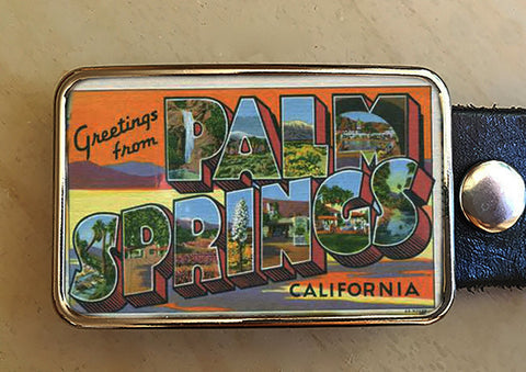 Art Deco Palm Springs Belt Buckle - Red Dove Studios - 1