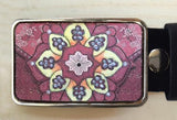 India Blossom Belt Buckle - Red Dove Studios - 1