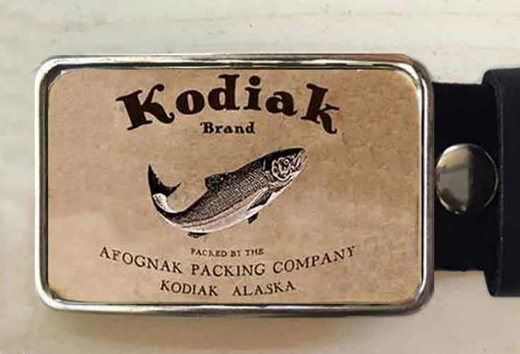 Kodiak Salmon Fish Belt Buckle - Red Dove Studios - 1
