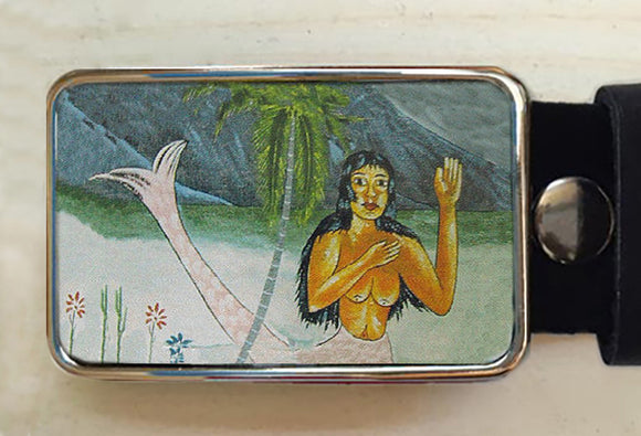 Mermaid Belt Buckle from Vintage Ad - Red Dove Studios - 1