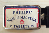 Vintage Milk of Magnesia Belt Buckle
