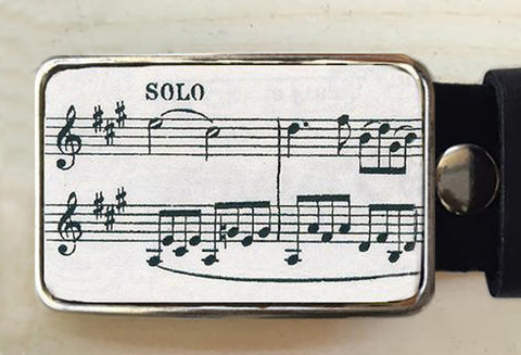 Sheet Music Belt Buckle - Red Dove Studios - 1