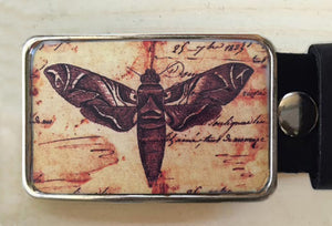Moth Insect Custom Belt Buckle for men and women