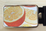 Orange Fruit Tin Belt Buckle - Red Dove Studios - 1