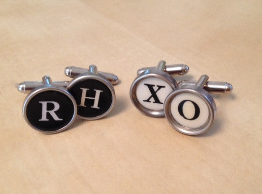 Custom Typewriter Cufflinks - Red Dove Studios - 2