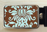 Turqouise Swirl Belt Buckle. - Red Dove Studios - 1