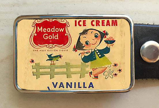 Vanilla Ice Cream Belt Buckle - Red Dove Studios - 1