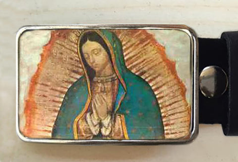 Virgin de Gaudalupe Belt Buckle - Red Dove Studios - 1
