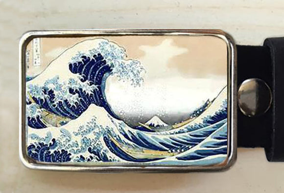 Great Wave Belt Buckle - Red Dove Studios - 1