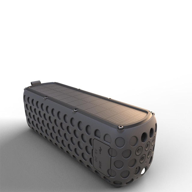 Tactical Solar Bluetooth Speaker With LED Flashlight